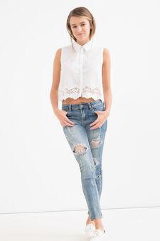 100% cotton Teen shirt, White, hi-res