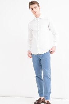 Rumford 100% cotton shirt, White, hi-res