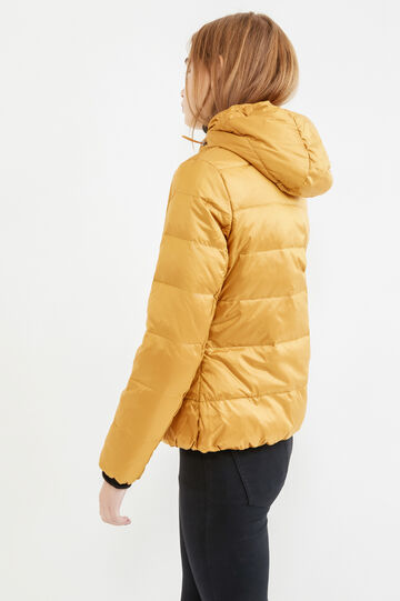 Down jacket with double pocket, Ochre Yellow, hi-res