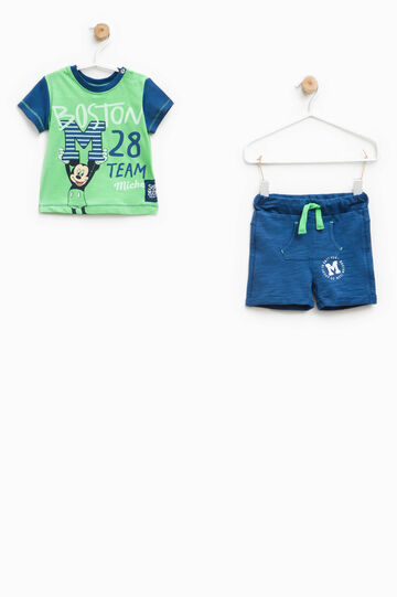 100% cotton Mickey Mouse outfit, Blue/Green, hi-res