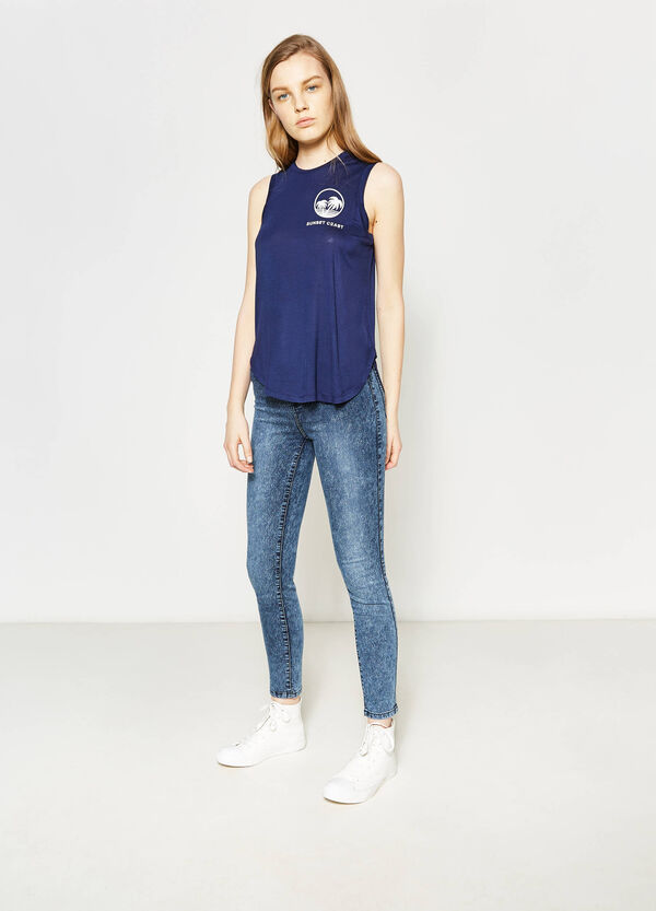 Top with rounded hem | OVS
