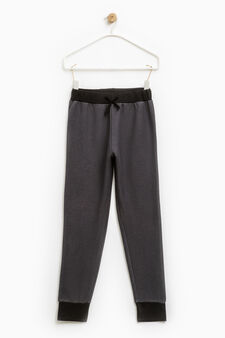 100% cotton joggers with drawstring, Slate Grey, hi-res