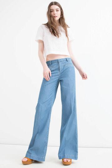 Jeans flare fit a vita alta, Denim, hi-res