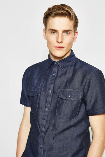 Regular-fit casual shirt in chambray
