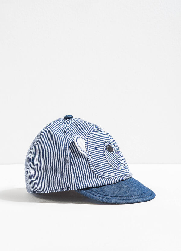 Striped baseball cap with ears | OVS