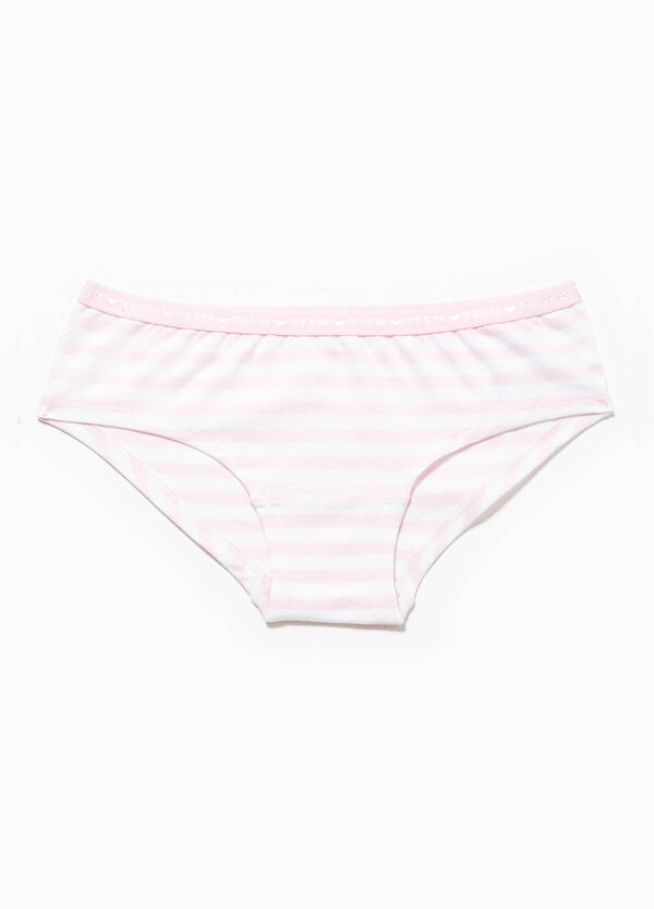 Striped French knickers in stretch cotton | OVS