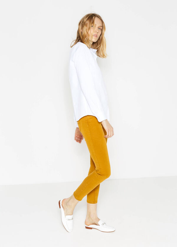 Solid colour super-skinny fit stretch trousers | OVS