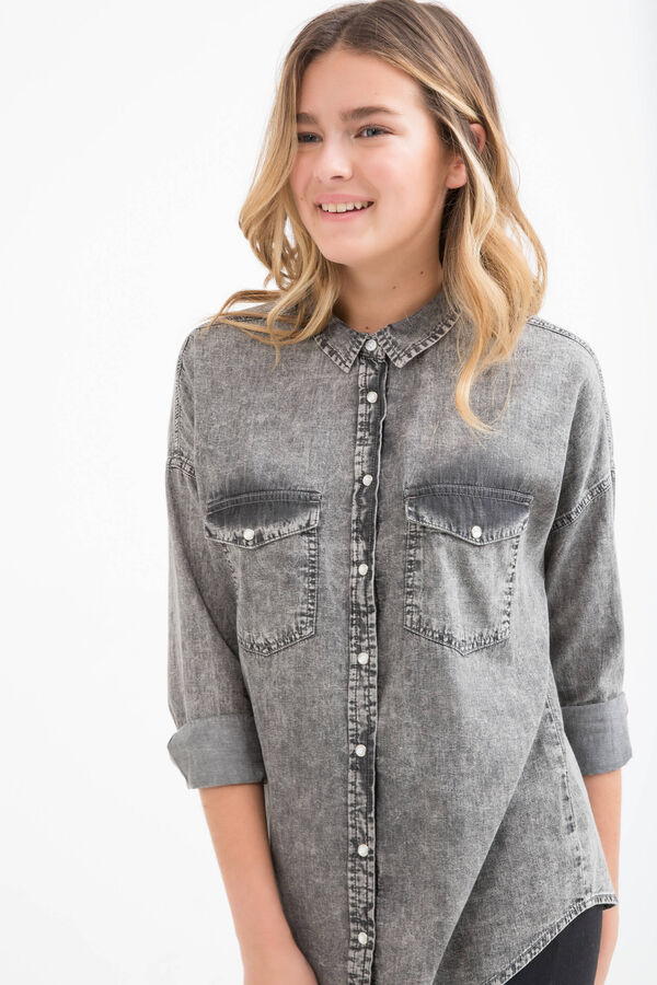 Camicia jeans effetto used Teen | OVS
