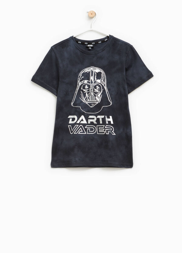 Mis-dyed-effect T-shirt with Star Wars print | OVS