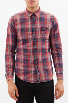 G&H shirt with pockets, Blue/Red, hi-res