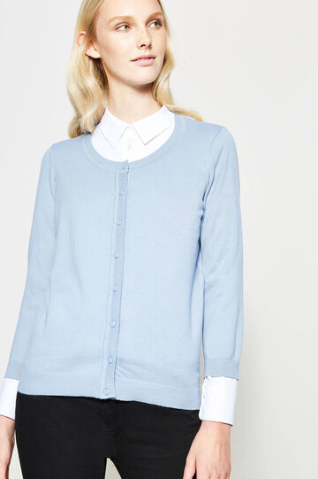Cardigan with three-quarter sleeves
