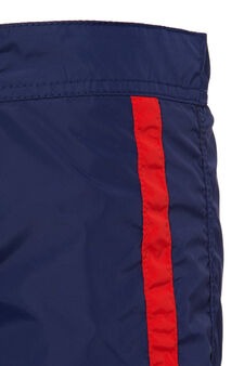 Swim boxer shorts with drawstrings by Maui and Sons, Navy Blue, hi-res
