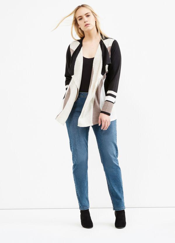 Cardigan tricot collo a scialle Curvy | OVS
