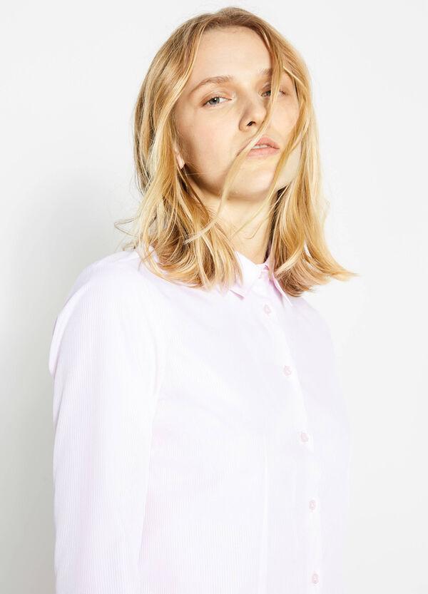 Solid colour cotton mix shirt | OVS