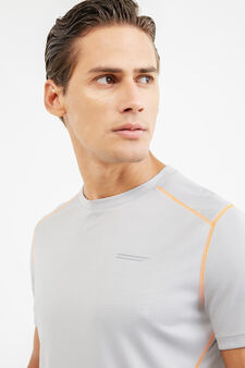 OVS Active Sport Training T-shirt, Light Grey, hi-res