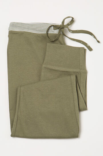 Pyjama trousers in 100% cotton, Green, hi-res