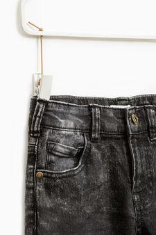 Jeans straight fit effetto maltinto, Lavaggio scuro, hi-res