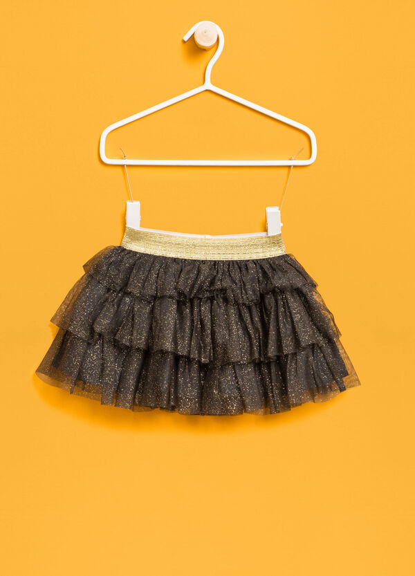 Flounced skirt in glitter tulle | OVS