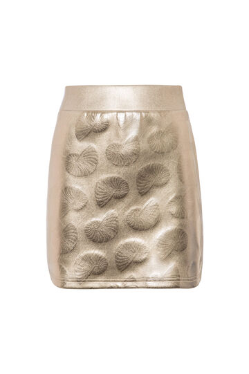 OVS Arts of Italy gold-coated mini-skirt
