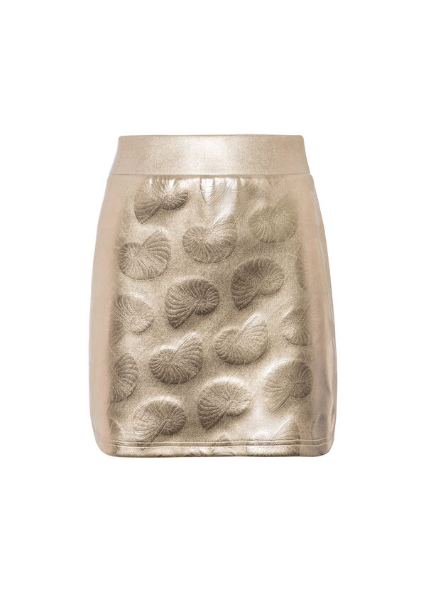 OVS Arts of Italy gold-coated mini-skirt | OVS