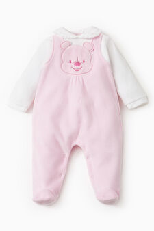 Winnie the Pooh onesie with dungarees, White/Pink, hi-res