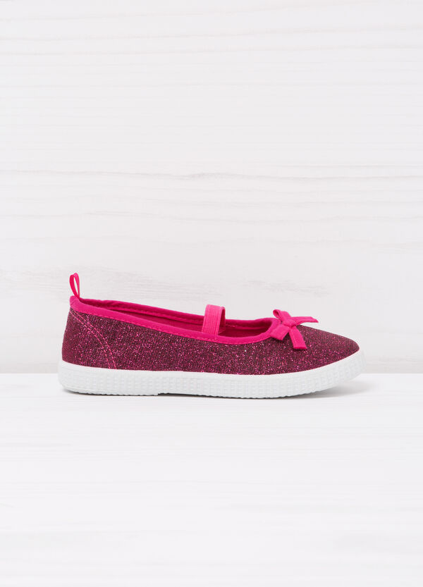 Glitter slip-ons with bow | OVS