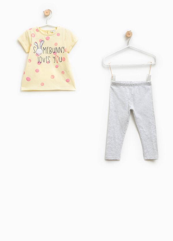 Completo t-shirt e pantaloni glitter | OVS