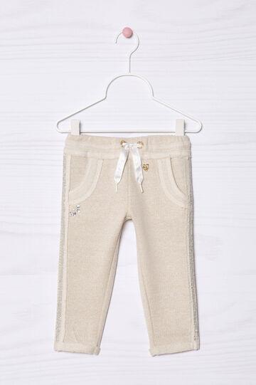Pantaloni misto cotone con lurex