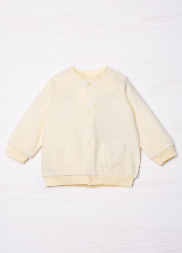 Cotton blend fleece jacket. | OVS