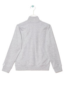 Plain sweatshirt, Grey Marl, hi-res