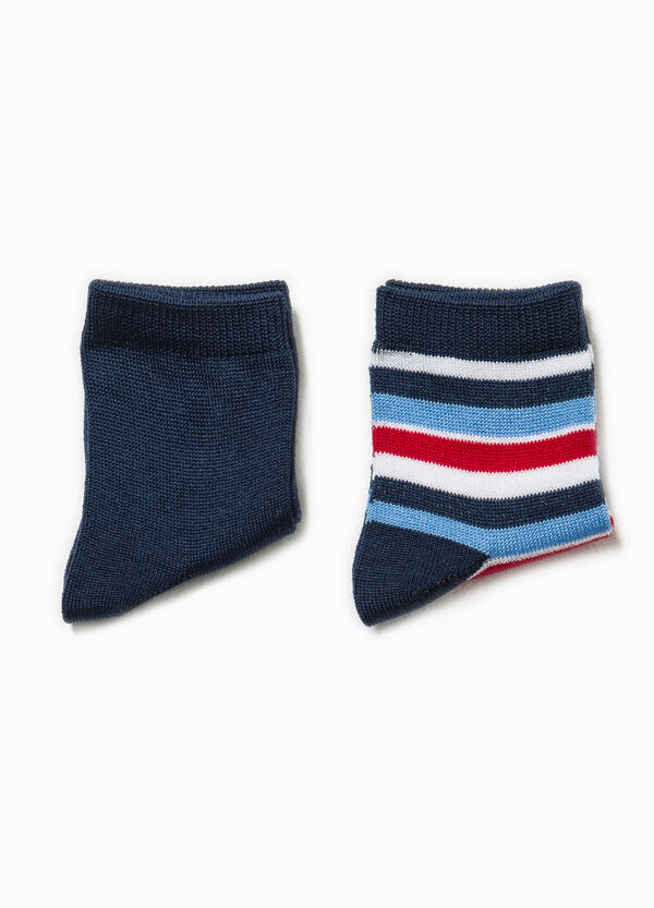 Set due paia di calze unito e rigato | OVS
