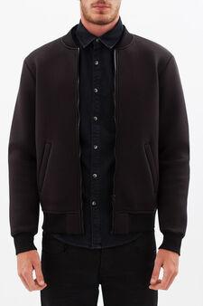 Camouflage print jacket, Black, hi-res