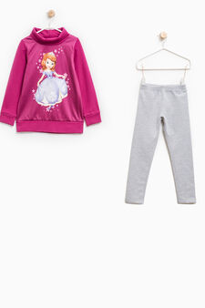 Sofia the First print tracksuit, Grey/Pink, hi-res