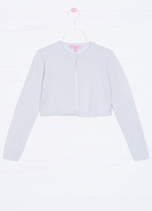 Cardigan corto misto cotone e lurex | OVS