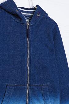 100% cotton hoodie, Navy Blue, hi-res