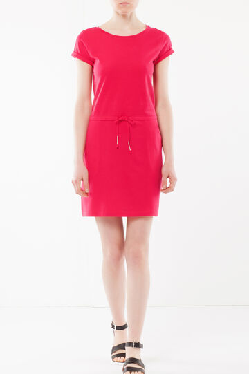 Tie front dress, Lobster Red, hi-res