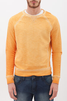 100% cotton sweatshirt with raglan sleeves, Corn Yellow, hi-res