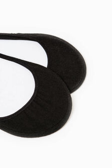 Two-pair pack stretch shoe liners, Black, hi-res
