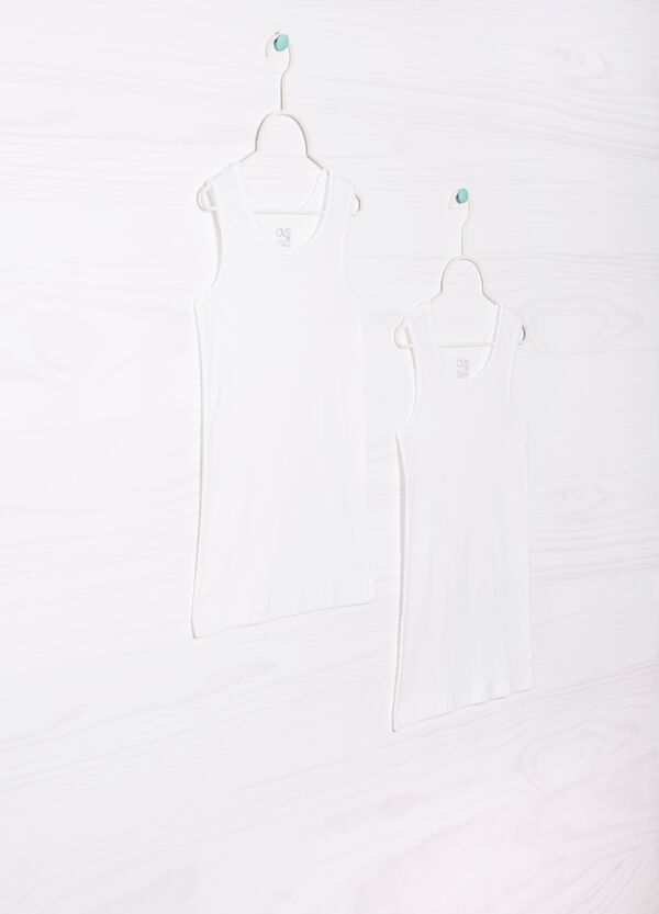 Two-pack vest tops in 100% cotton | OVS