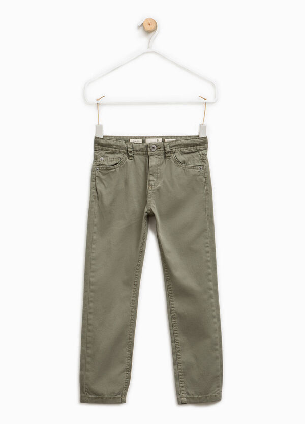 100% cotton chino trousers | OVS