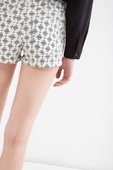 Shorts stretch cinque tasche, Bianco, hi-res