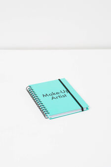 Spiral ring notebook with lined pages, Aqua Green, hi-res