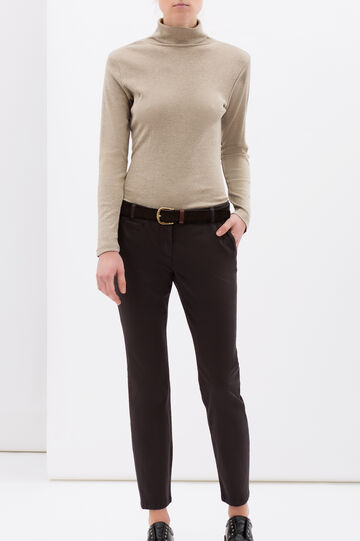 Regular fit stretch jeans, Chocolate Brown, hi-res