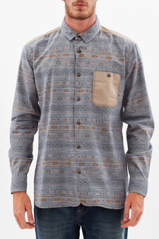 G&H shirt with ethnic pattern, Multicolour, hi-res