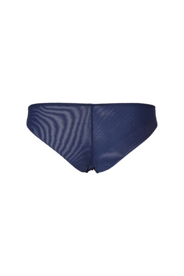Slip stretch retro semi trasparente, Blu navy, hi-res