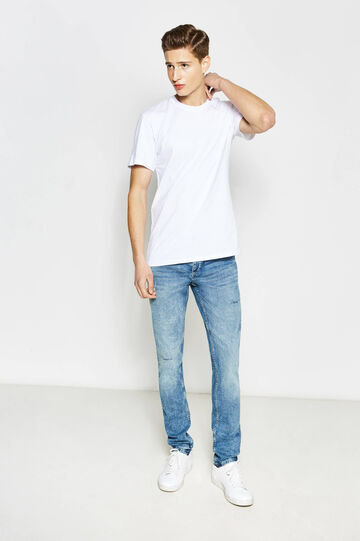 Used-effect slim-fit stretch jeans, Denim, hi-res