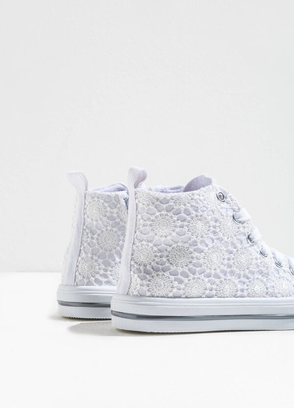 High lace lace-up sneakers | OVS