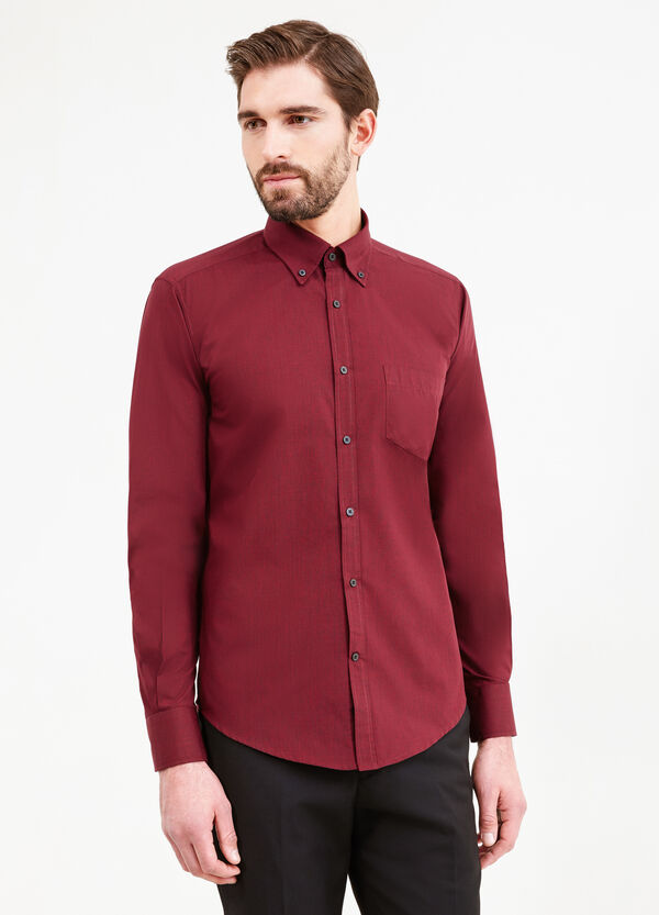 Slim-fit formal shirt with button down collar | OVS