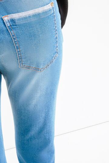 Jeans boyfriend crop effetto used, Lavaggio medio, hi-res