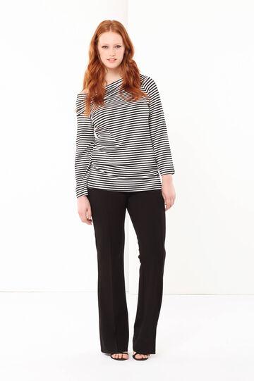 Curvyglam striped T-shirt, White/Black, hi-res